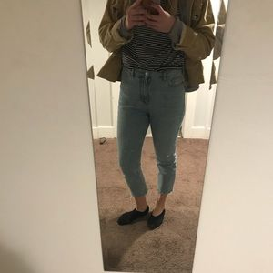 TopShop cropped mom jean